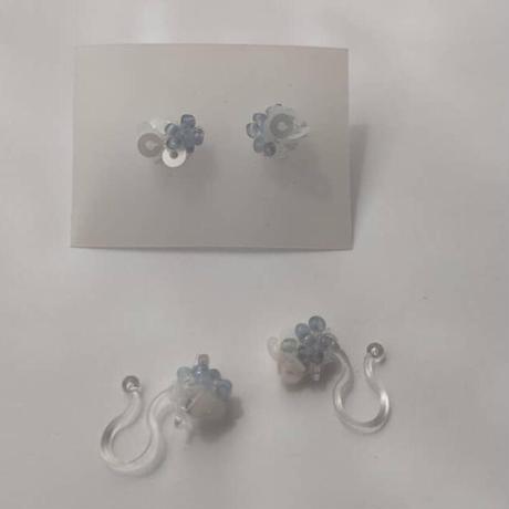 紫陽花 petit pierce[ blue gray  ]