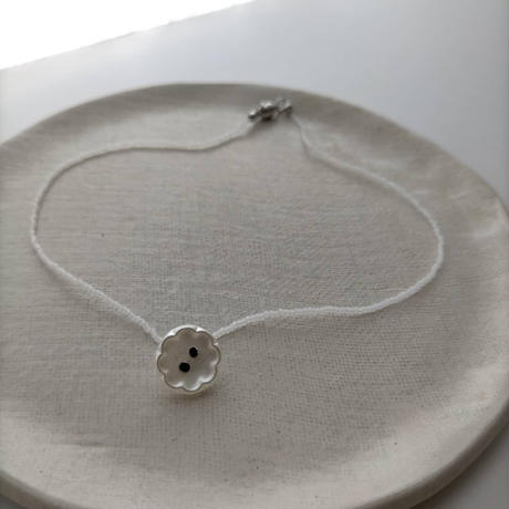 flower  short  necklace [オンライン限定/Czech vintage]