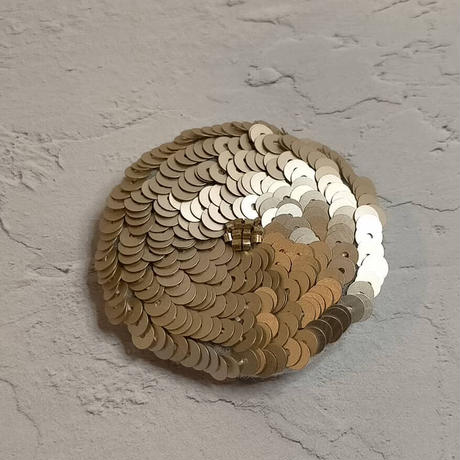 champagne gold  flower brooch