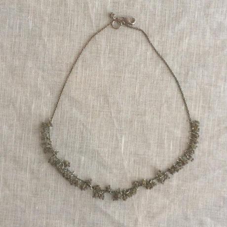 星の粒necklace 【オパックグレー、受注生産品】