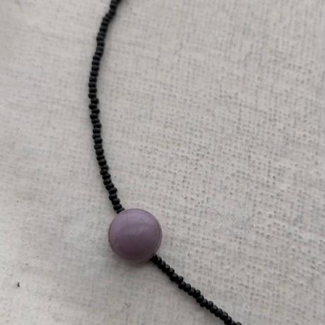 purple  short  necklace [オンライン限定;Czechvintage]