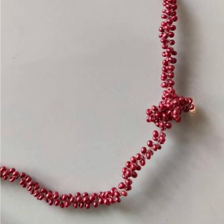 Amaranthus choker&bracelet  [35㎝]