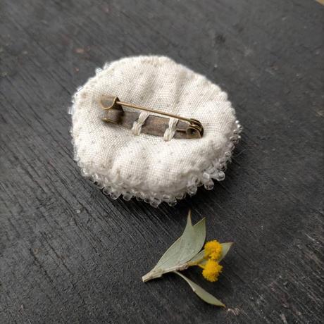 gulugulu   brooch  [clear&silver]