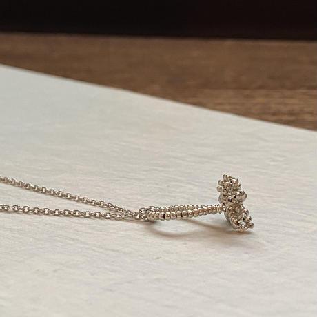 tasu silver necklace /Czech beads