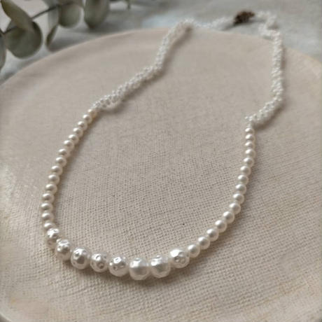 tsunagu necklace  [maru  pearl]