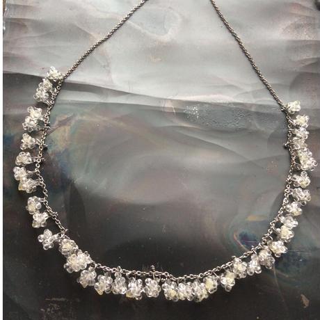 星の粒necklace 【クリアビーズ、受注生産品】