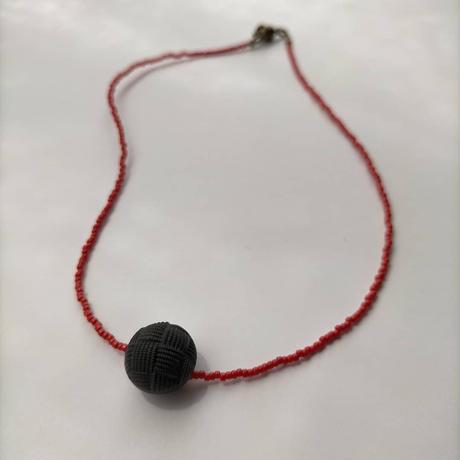 red &black  short  necklace