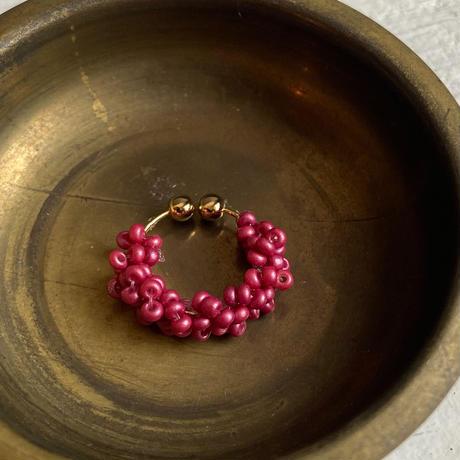 tsubu tsubu イヤーカフ berry pink/Czech [1piece]