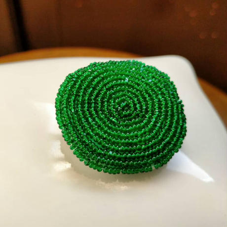 maru  brooch  [green]