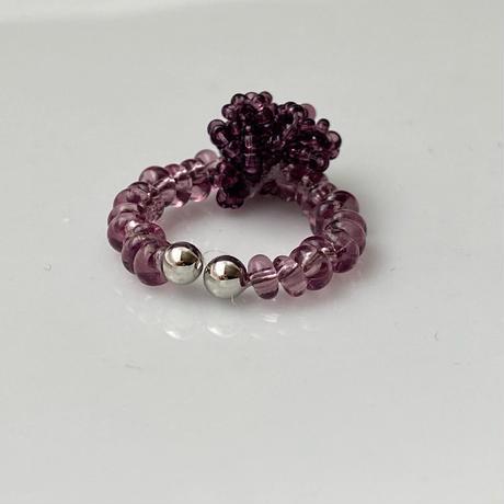 イヤーカフ purple bonbon/Czech [1piece]