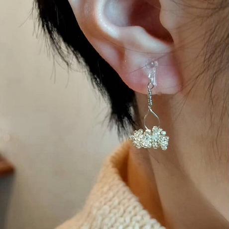 winter star 星の雫の耳飾り