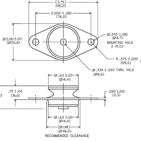 FXRエキゾーストラバーマウント ストロングバージョン FXR-5053NS