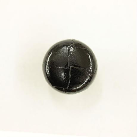 革ボタン(200-21-09)黒 21㎜  1個