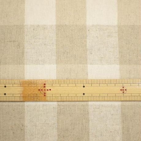 綿麻先染めキャンパス チェック ICH5545 【10cmあたり】