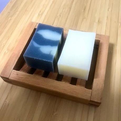 ハーフ&ハーフ石けん (麻炭石鹸&Sweet almond soap)