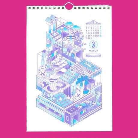2021年カレンダー「スピリット」/DANIELA MARTÍN DEL CAMPO