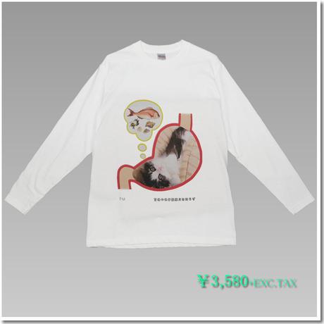 5.6オンス ヘビーウェイト長袖Tシャツ はにかみこねこのデザインTシャツ(ことわざ編 Part1)