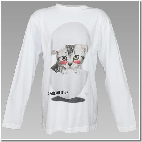 5.6オンス ヘビーウェイト長袖Tシャツ こねこのデザインTシャツ (勘違い編)