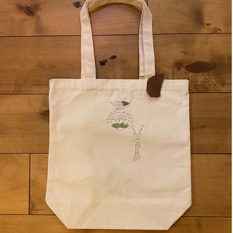 『CARRY the CURRY 』変な形の鹿刺繍トート編