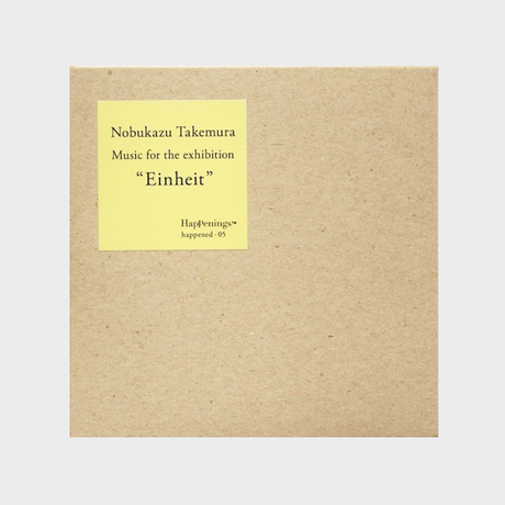 "Nobukazu Takemura ""Music for the exhibition Einheit"" CD"