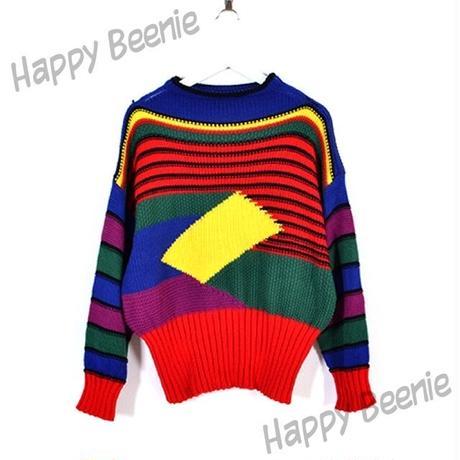 カラフルニットセーター