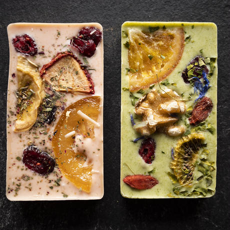 Herbs & Fruits 有機チョコプレート:4種セット