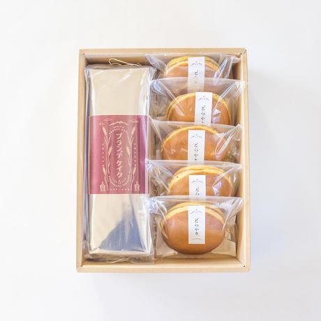ブランデケイク(full)+どら焼き5個セット