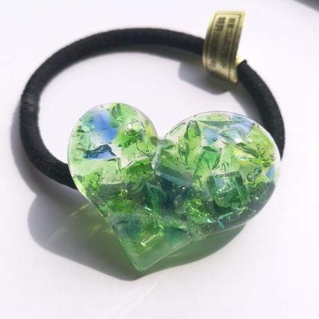 glass heart(green&blue)