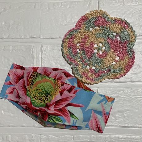 接触冷感❣️手作りマスク&お花モチーフセット