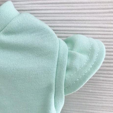 M・ワンコ服・シャインクール&フリル袖タンク(グリーン・Mサイズ)