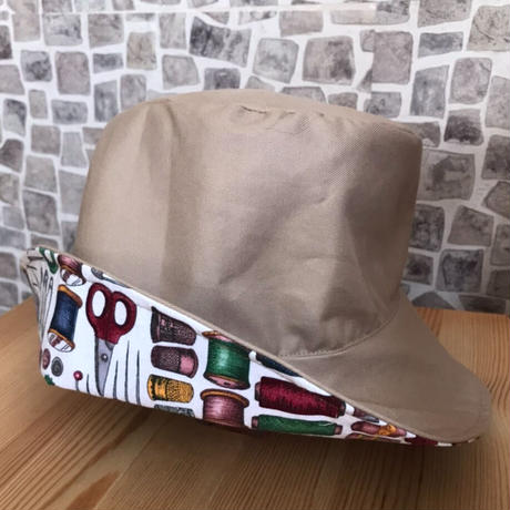 柔らかリバーシブル帽子