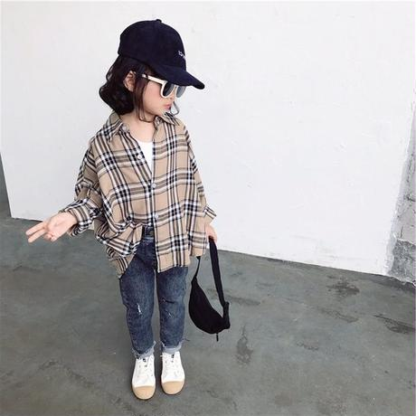 unisex check Over shirt
