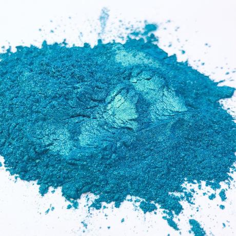 手作り石けん用化粧品グレードのマイカ~Mermaid Blue Mica 20g