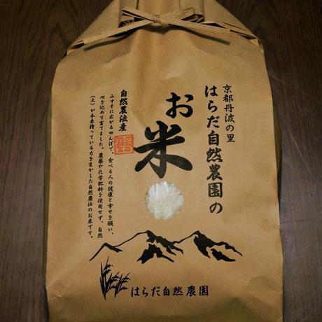 白米/胚芽残5kg(令和2年産・自然農法無農薬栽培切り替え3年目・胚芽を残して精米・にこまる)