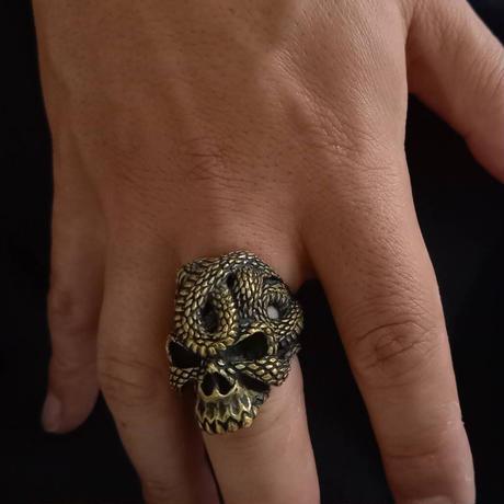 蛇髑髏リング(真鍮)