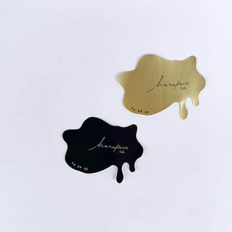 ハラペコラボオリジナルステッカー YODARE 2枚組(black・Gold)