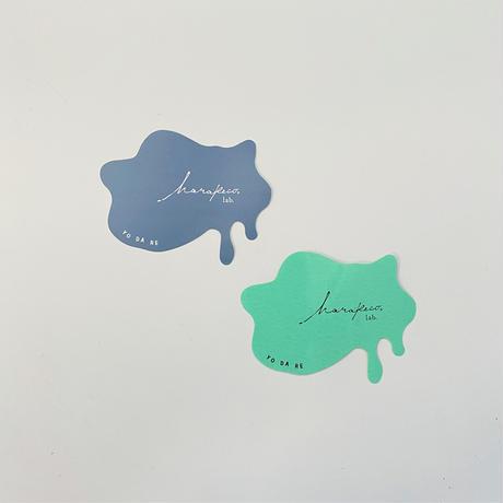 ハラペコラボオリジナルステッカー YODARE 2枚組(blue glay・mint green)