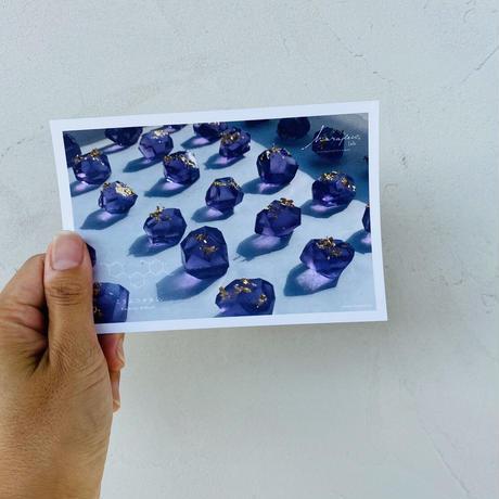 ハラペコラボのポストカード  -  Purple Gold