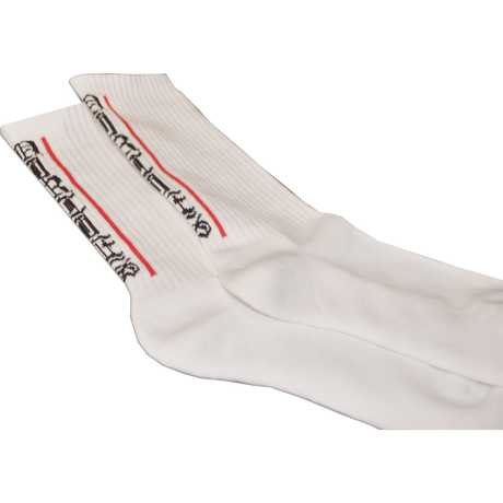 """""""65""""MIDDLE SOX WHITE"""