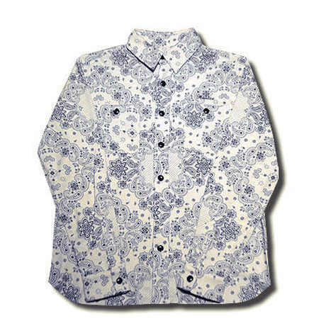 PHAISE PAISLEY L/S SHIRT 2nd OFF WHITE