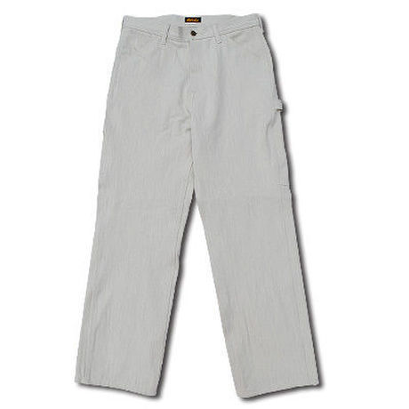 HIGHEST HERRINGBONE PAINTER PANTS WHITE