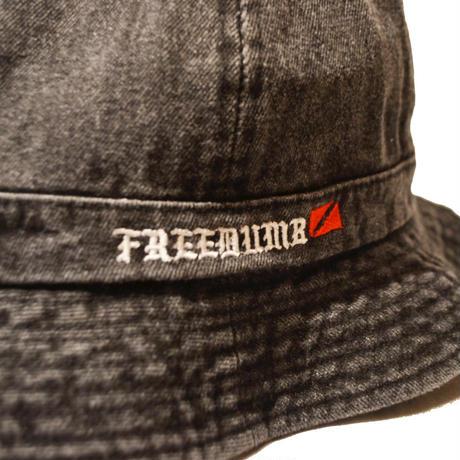 "HARDEE ""74""DENIM CREW HAT BLACK"