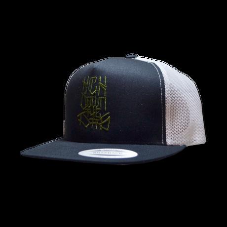 """""""42"""" 2TONE MESH CAP BLK/WHT"""