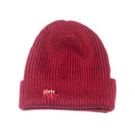 DXN LOGO KNIT CAP RED-YELLOW