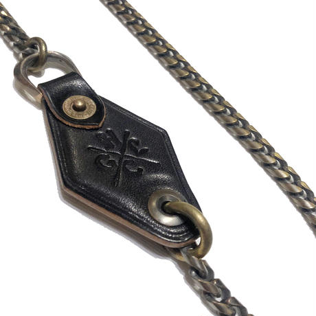 Hardee×GARNET LEATHER WALLET CHAIN(NARROW)