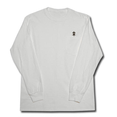 UNSAFETY L/S POCKET T-SHIRT WHITE