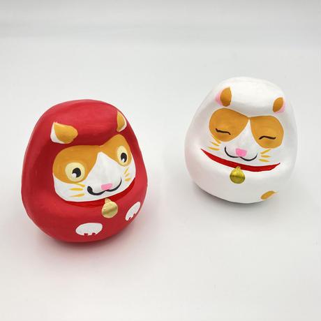 猫城主 さんじゅーろーだるま 紅白セット