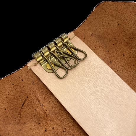 【レクサス岡山様ショールーム展示商品】天然皮革製キーケース ラクリエ