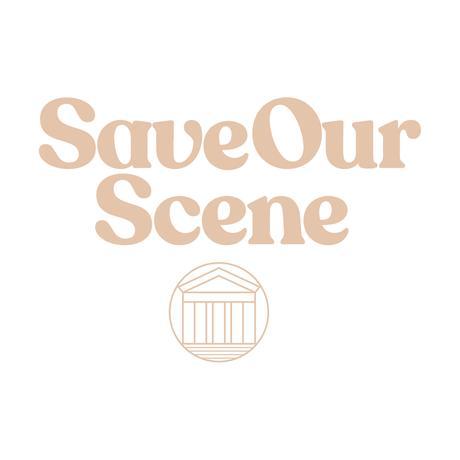 【Beyond18プロジェクト】 Save Our Scene ロゴTシャツ(White)