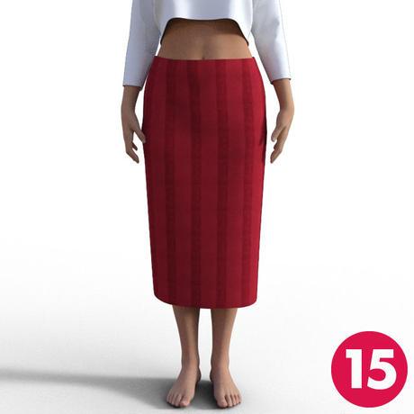 【15号】後ろベンツロングタイトスカートA3 PDF型紙